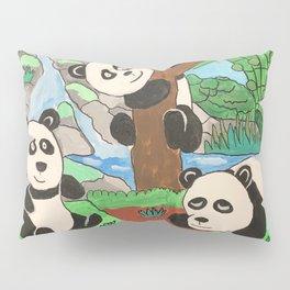 Playful Pandas Pillow Sham