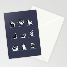 Husky Yoga Stationery Cards
