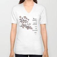 mulan V-neck T-shirts featuring mulan  quote by studiomarshallarts