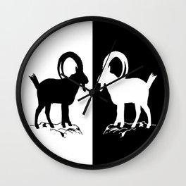 Alpine Ibex Wall Clock