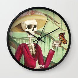Jane Austen La Catrina Wall Clock