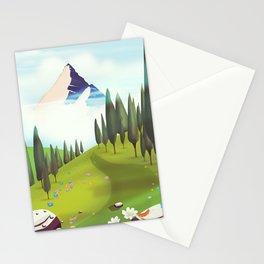 Alpine Meadow landscape Stationery Cards