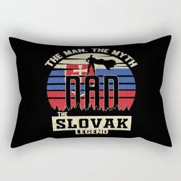 The Man The Myth The Slovak Legend Dad Rectangular Pillow