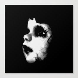 Creepy Doll Face Canvas Print