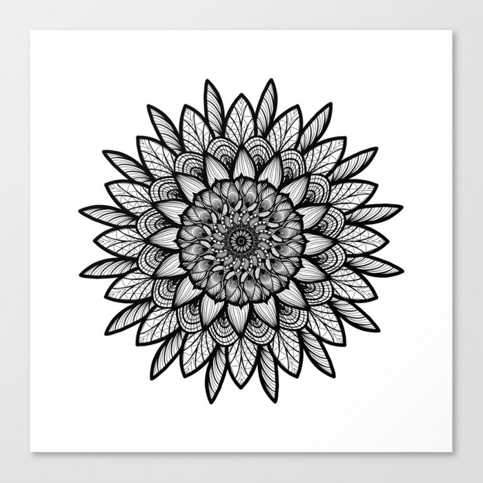Circle is back Canvas Print