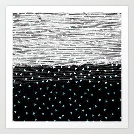 257 31 Triangle Texture Art Print
