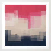 city Art Prints featuring city by spinL