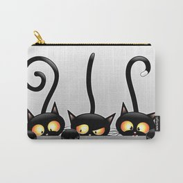 Three Naughty Playful Kitties Carry-All Pouch