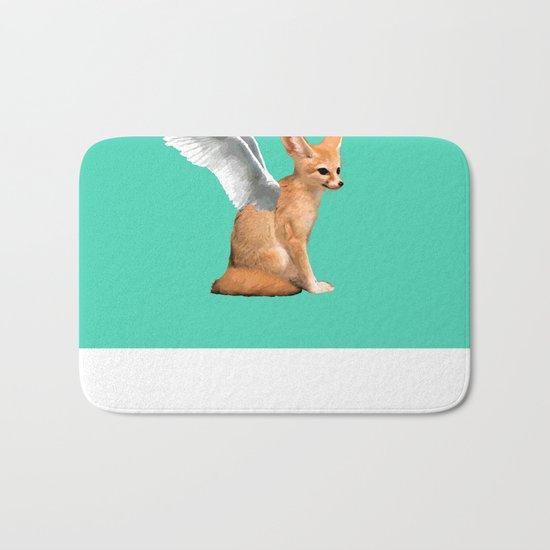 Winged Fennec Fox Bath Mat
