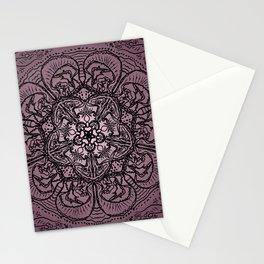 Pink Floral Pentagram Stationery Cards