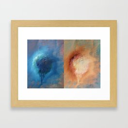 Hide/reveal poetry Framed Art Print