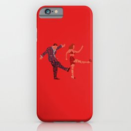 I'll never tell typography iPhone Case