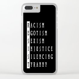 Resist : a political protest Clear iPhone Case