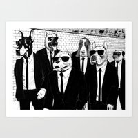 reservoir dogs Art Prints featuring Reservoir Dogs by Vitrugo