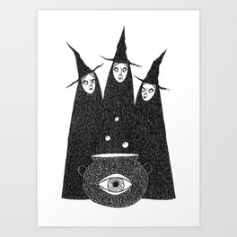 Cauldron Crones Art Print