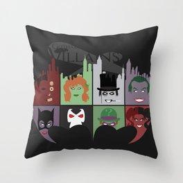 Gotham Villains Throw Pillow