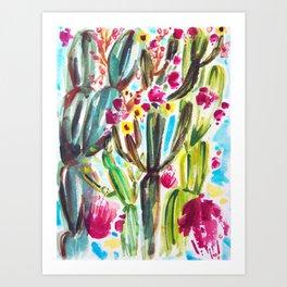 Café Cactus Art Print