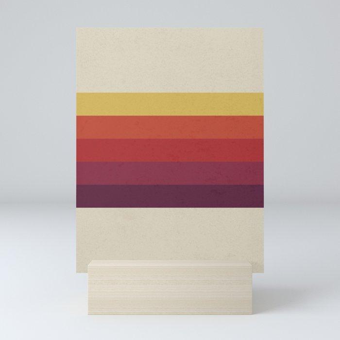 Retro Video Cassette Color Palette Mini Art Print