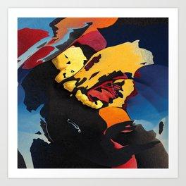 Sundown tropics Art Print