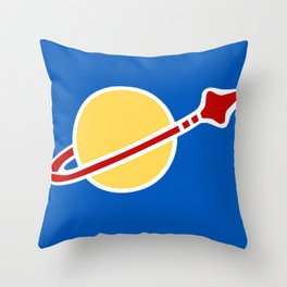 Blue Spaceman! Benny from Lego The Movie! Throw Pillow