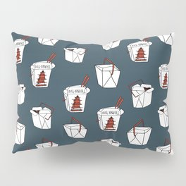 Rice takeout chinese food container new york style chinese food pattern Pillow Sham