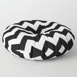 BLACK AND WHITE CHEVRON PATTERN Floor Pillow