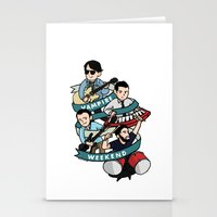 vampire weekend Stationery Cards featuring Vampire Weekend by Knifeson