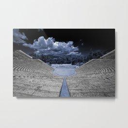 Epidavros Blue  Metal Print