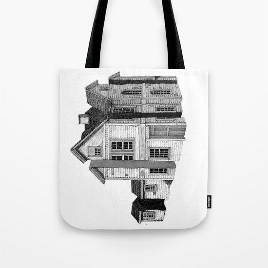 house in black Tote Bag