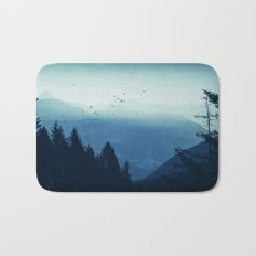 Blue Valmalenco - Alps at sunrise Bath Mat