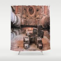 shiva Shower Curtains featuring Temple of Shiva by Four Hands Art