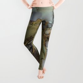 Enchanted Tree Roots Abstract Ink Painting Leggings