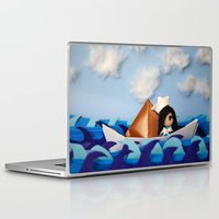 caleb troy Laptop & iPad Skins featuring Troy Marinera ~ Sailor by Marivi Troy