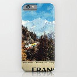 Plakat france le massif du mont blanc iPhone Case