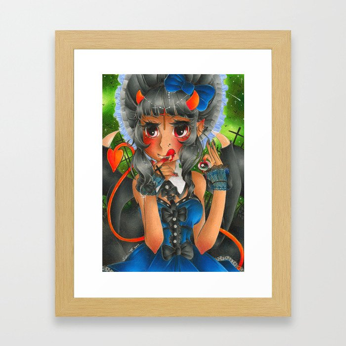 Midnight Devil Framed Art Print
