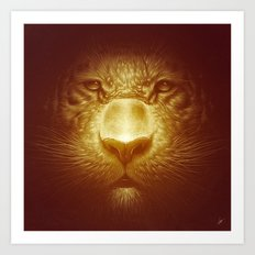 Gold Tiger Art Print