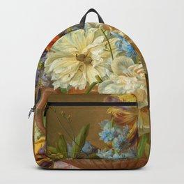 """Gerard van Spaendonck """"Flower Still-life with an Alabaster Vase"""" Backpack"""