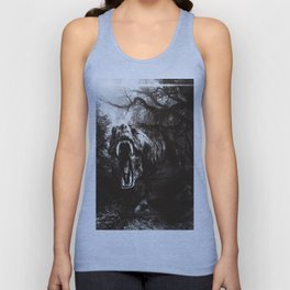 T-rex attack Black edition Unisex Tank Top
