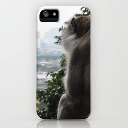 Monkey in Malaysia iPhone Case