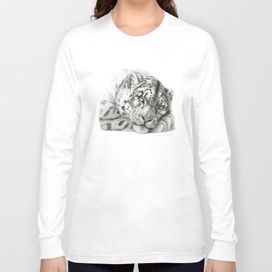 Pensive Snow Leopard G2011-011 Long Sleeve T-shirt