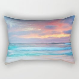Blue sea Rectangular Pillow