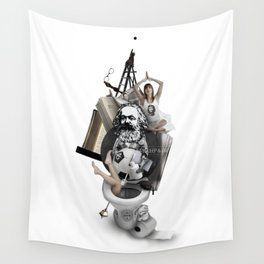 EAT, SLEEP AND DIE (Totem of the Human) Wall Tapestry