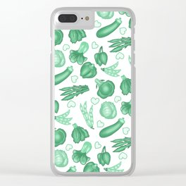 Eat Your Greens Clear iPhone Case