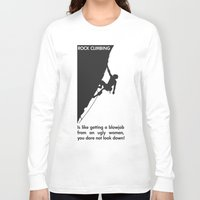 climbing Long Sleeve T-shirts featuring Rock Climbing by Rothko