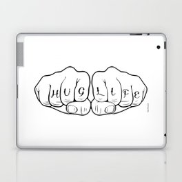 (T)Hug Life Thug Life Fist Tattoo Laptop & iPad Skin