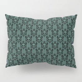 Halloween Damask Teal Pillow Sham