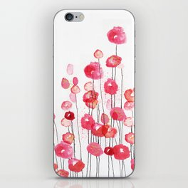 Poppies in Pink iPhone Skin