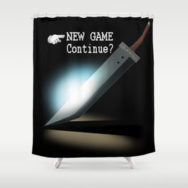 NEW GAME - Continue? Shower Curtain