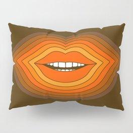 Pop Lips - Golden Pillow Sham