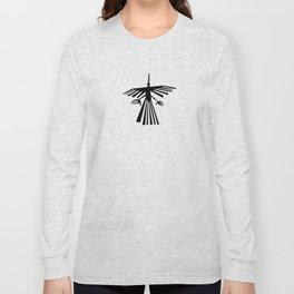nazca bird black line Long Sleeve T-shirt